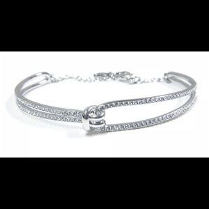 The Swarovski® Lifelong Bangle silver color
